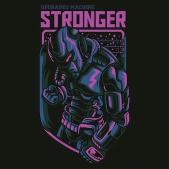 Ilustración de robot más fuerte