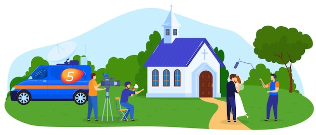 Ilustración de rodaje de película. medios de producción de películas.