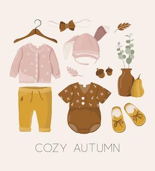 Ilustración con ropa de niños.