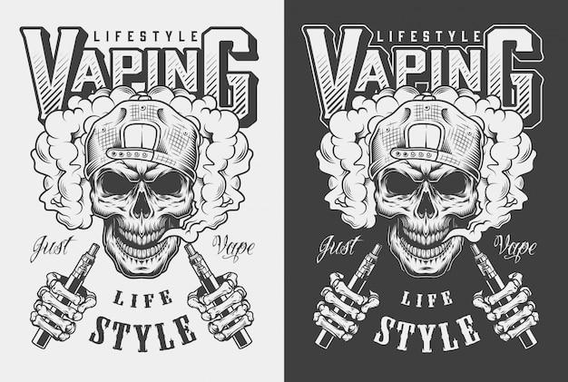 Ilustración de ropa vaping
