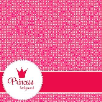 Ilustración rosada del vector del marco de la corona de la princesa. eps10