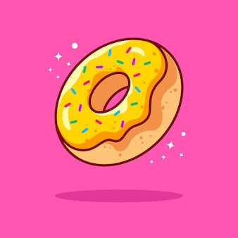 Ilustración de rosquilla con contorno