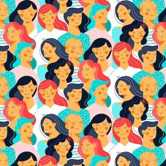 Ilustración de rostros de mujeres