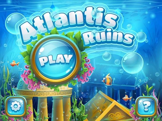 Ilustración de ruinas de atlantis para juego