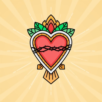 Ilustración del sagrado corazón