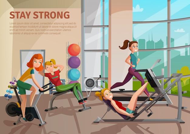 Ilustración de la sala de ejercicios