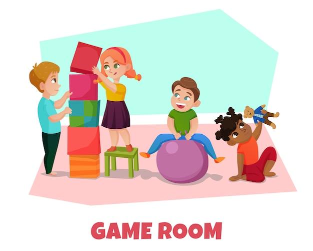 Ilustración de la sala de juegos