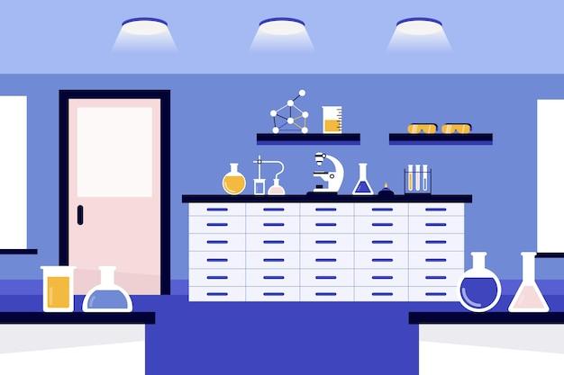 Ilustración de la sala de laboratorio