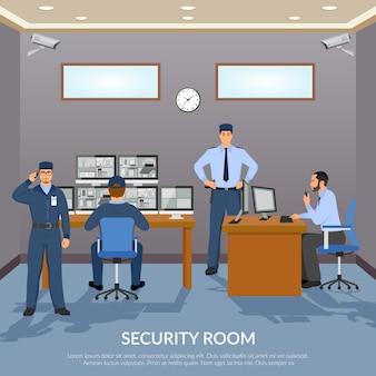 Ilustración de la sala de seguridad