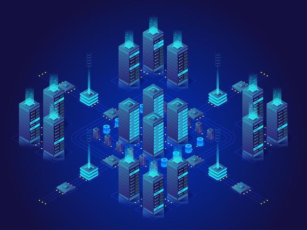 Ilustración de la sala de servidores virtuales