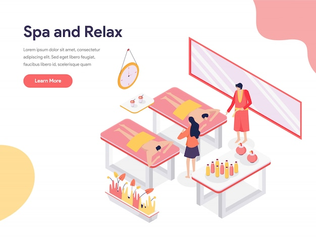 Ilustración de sala de spa y relax