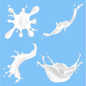 Ilustración de salpicaduras de leche fresca