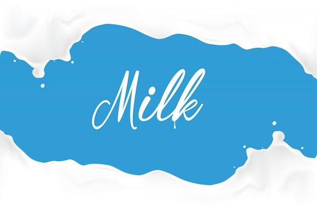 Ilustración de salpicaduras de leche