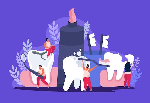 Ilustración de salud dental