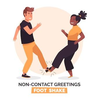 Ilustración de saludo sin contacto