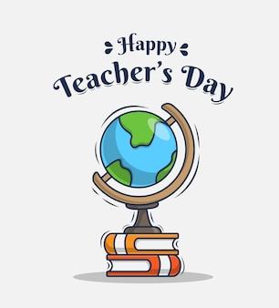 Ilustración con saludos felices del día del maestro.
