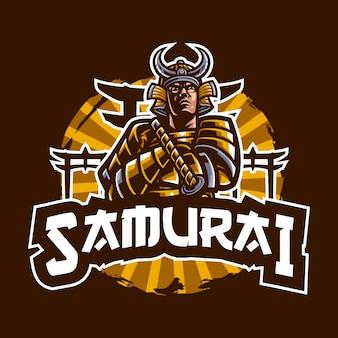Ilustración de samurai