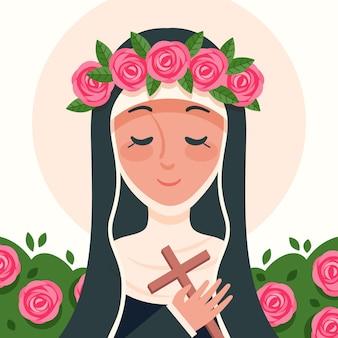Ilustración de santa rosa de lima