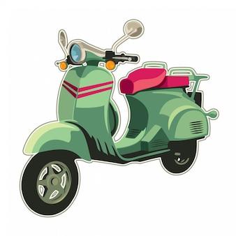 Ilustración de scooter