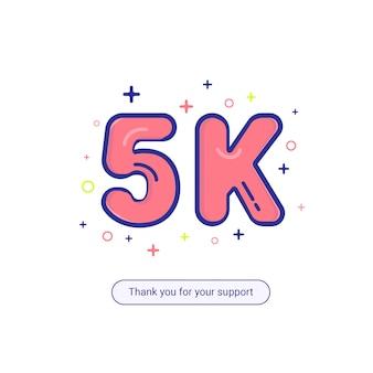 Ilustración de seguidor 5k