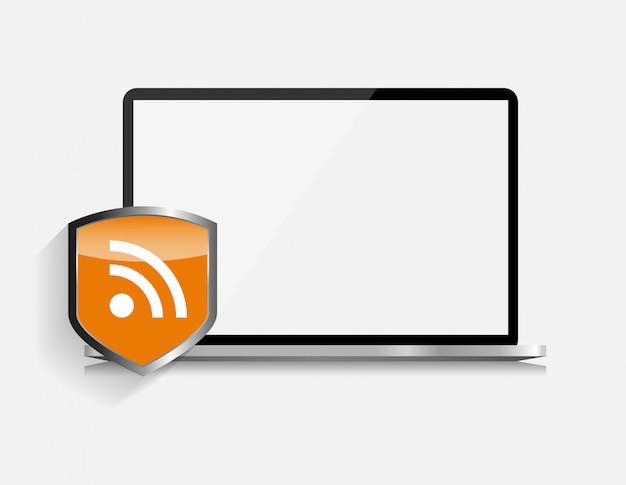 Ilustración de seguridad de internet