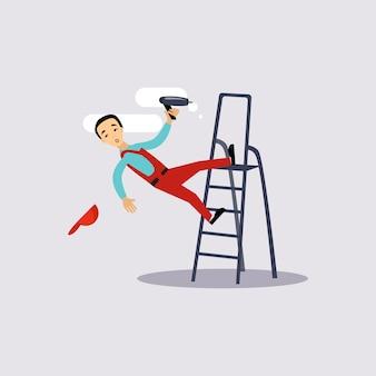 Ilustración de seguro de lesiones en el trabajo