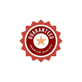 Ilustración de sello de calidad premium garantizada