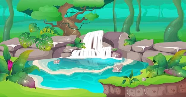 Ilustración de la selva