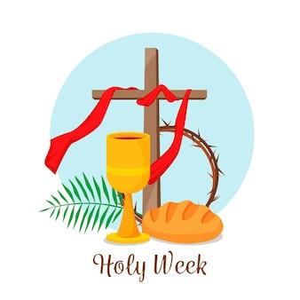 Ilustración de semana santa