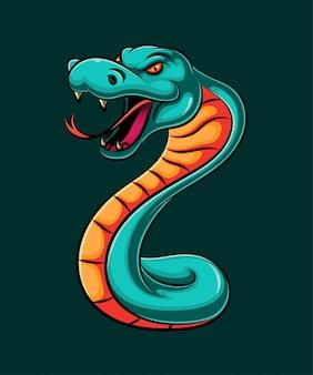 Ilustración de una serpiente cobra