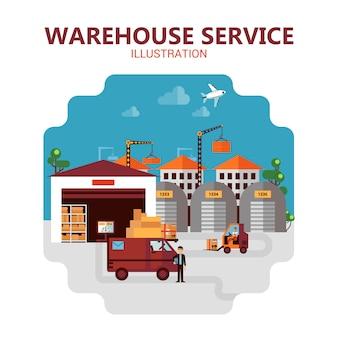 Ilustración de servicio de almacén