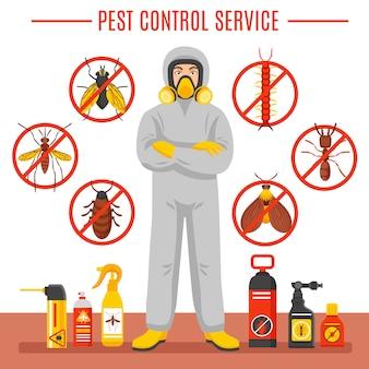 Ilustración del servicio de control de plagas