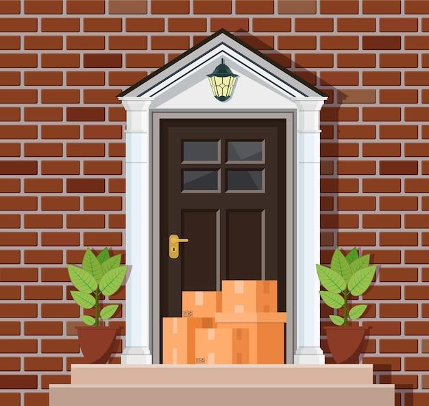 Ilustración de servicio de entrega.