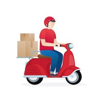 Ilustración de servicio de entrega
