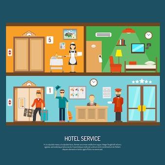 Ilustración de servicio del hotel