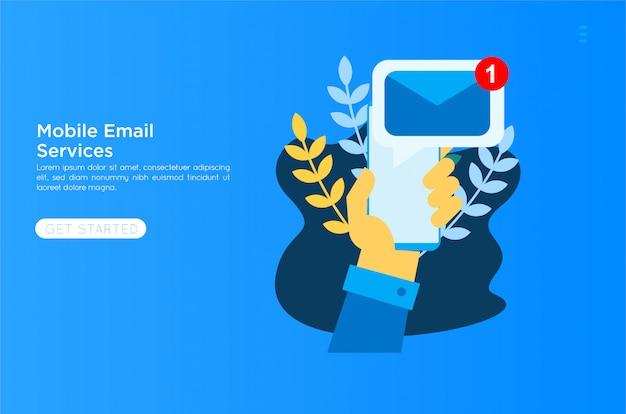Ilustración de servicios de correo electrónico