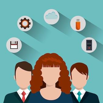 Ilustración de servicios tecnológicos