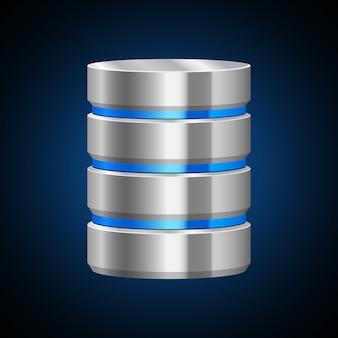 Ilustración del servidor de datos sobre fondo blanco