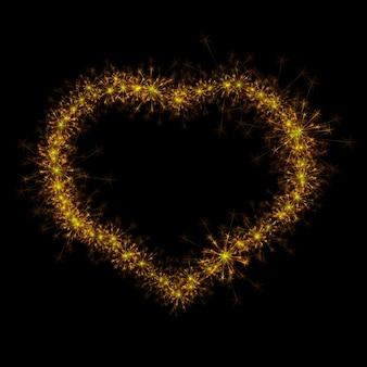 Ilustración de signo de arte de bengala de corazón