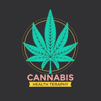 Ilustración de signo de hoja de cannabis verde