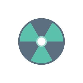 Ilustración del signo de precaución radiactiva
