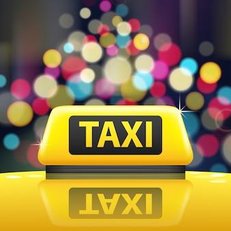 Ilustración de signo de taxi