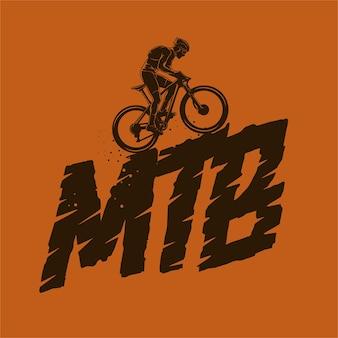 Ilustración de silueta de bicicleta de montaña