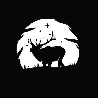 Ilustración de silueta de un ciervo