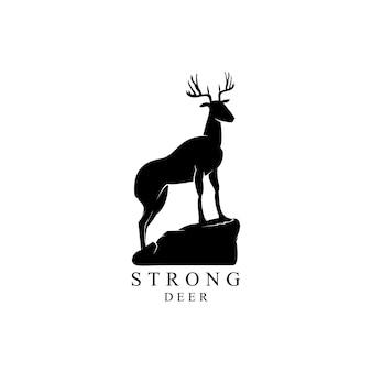 Ilustración de silueta de ciervos exóticos