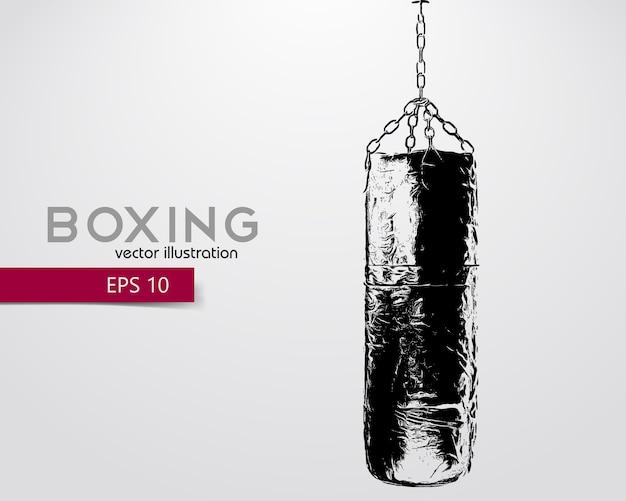Ilustración de silueta de saco de boxeo