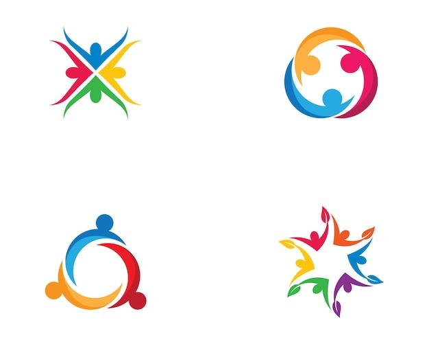 Ilustración de símbolo de cuidado de comunidad