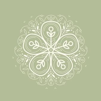 Ilustración símbolo ecológico.