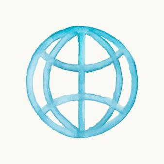 Ilustración de un símbolo de internet