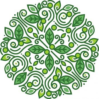 Ilustración simple círculo floral